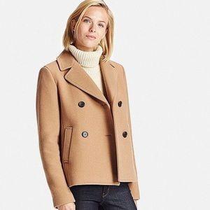 Women's Uniqlo Short Pea Coat Sz M